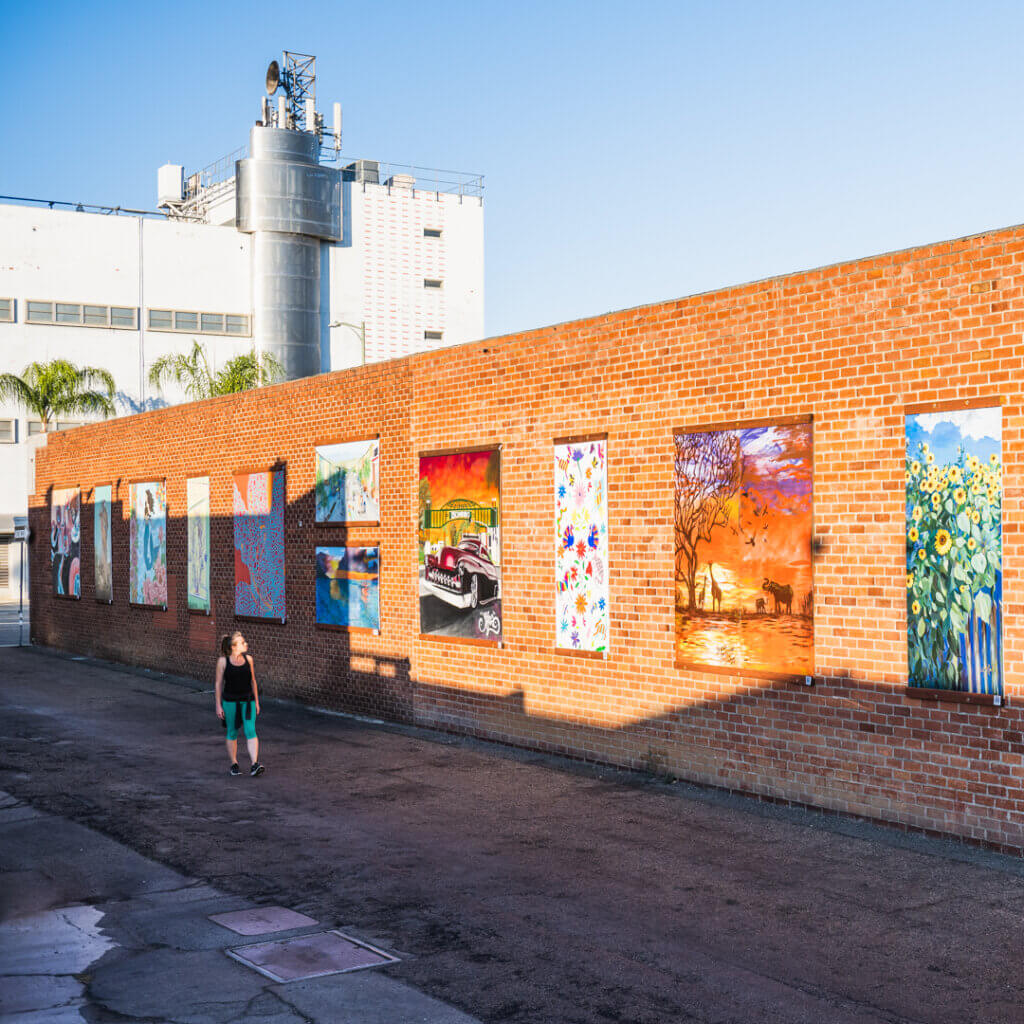 A mural street art project in Downtown Escondido in North County San Diego.